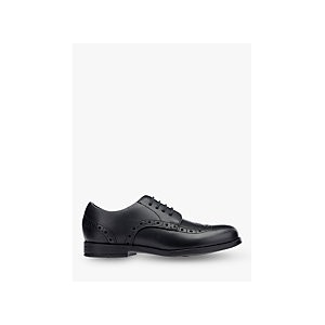 Start-Rite Childrens Brogue, Black Leather