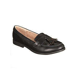 John Lewis & Partners Childrens Somerset Loafers, Black