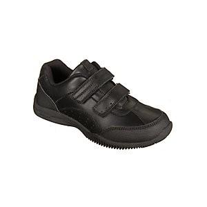 John Lewis & Partners Childrens Kent Double Riptape Shoes, Black
