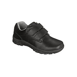 John Lewis & Partners Childrens Surrey Double Riptape Shoes, Black