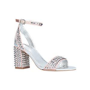 Carvela Gianni Studded Block Heeled Sandals, Nude