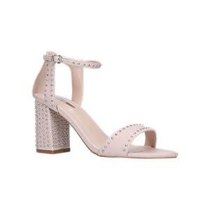 Carvela Gogo Studded Block Heel Sandals, Nude