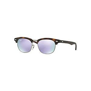 Ray-Ban Junior RJ9050S Clubmaster Sunglasses, Tortoise/Lilac