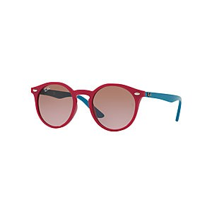 Ray-Ban Junior RJ9064S Round Sunglasses, Turquoise/Pink