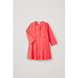 BUTTON-UP A-LINE DRESS