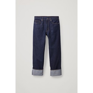 STRAIGHT TURN-UP JEANS