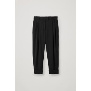 DROPPED CROTCH TROUSERS WITH PLEATS