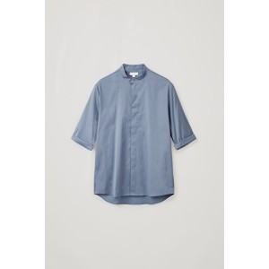 3/4-SLEEVED GRANDAD SHIRT