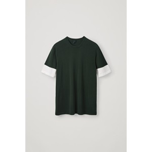 KNITTED COLOUR-BLOCK T-SHIRT