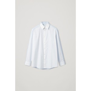CONTRAST-PANEL COTTON SHIRT