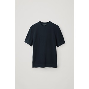 MOSS-STITCHED COTTON TOP