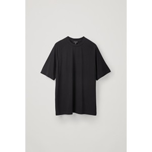 RELAXED MOCK-NECK T-SHIRT