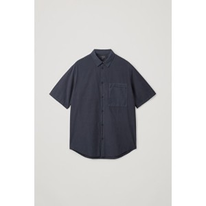 CASUAL SHORT-SLEEVED POPLIN SHIRT