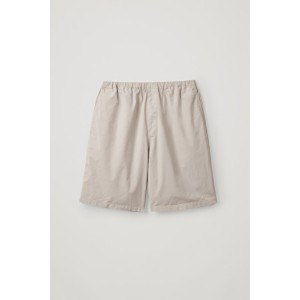ELASTIC-WAIST COTTON SHORTS