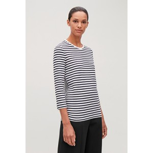 MIX STRIPE LONG-SLEEVED TOP