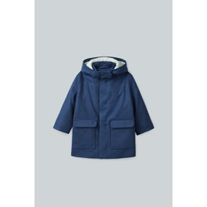 WOOL-CASHMERE HOODED COAT