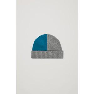 COLOUR BLOCK CASHMERE HAT