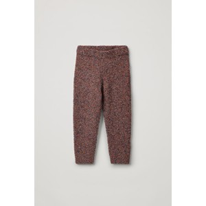 SPECKLED COTTON-WOOL PANTS