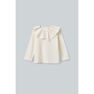 PLEATED COLLAR COTTON TOP