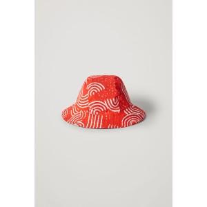 ORGANIC COTTON CHALK PRINT BUCKET HAT