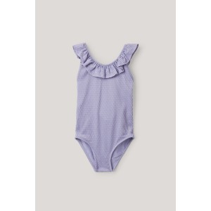 FRILLED TEXTURED SWIMSUIT