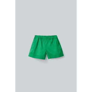 LINEN-COTTON SHORTS WITH PATCH POCKET