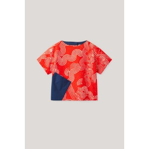 PRINTED TOP WITH PATCH POCKET