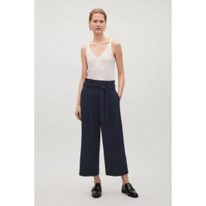 WIDE WAIST-PLEATED TROUSERS