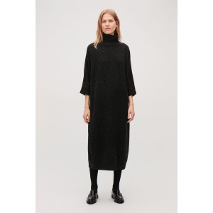 OVERSIZED HIGH-NECK DRESS