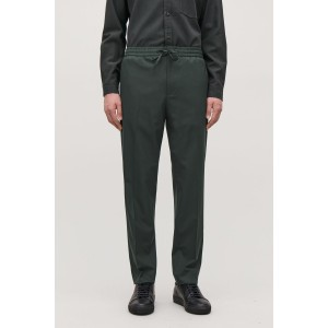 ELASTICATED SLIM-FIT TROUSERS