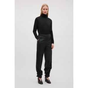 TROUSERS WITH GATHERED HEMS