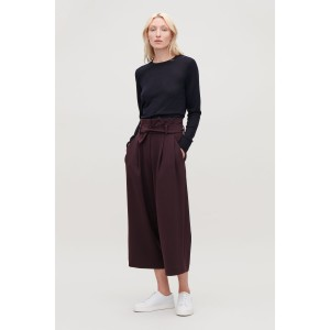 BELTED HIGH-WAIST TROUSERS