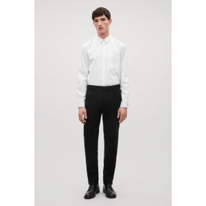 SLIM WOOL-JERSEY TROUSERS