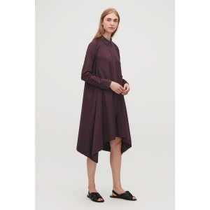 HANDKERCHIEF-HEM SHIRT DRESS