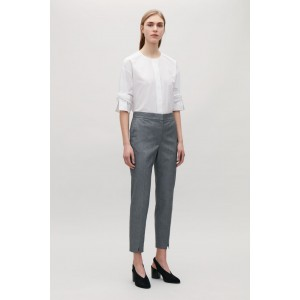 SLIM-FIT TROUSERS WITH SLITS