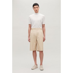 COTTON SHORTS WITH PRESS FOLDS