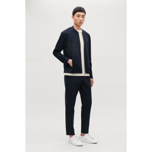 COTTON BOMBER WITH CUTLINES