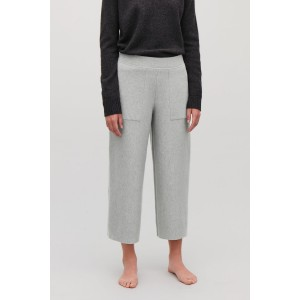 CROPPED COTTON-CASHMERE TROUSERS