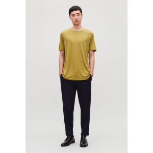 SILK-LINEN ROUND-NECK T-SHIRT