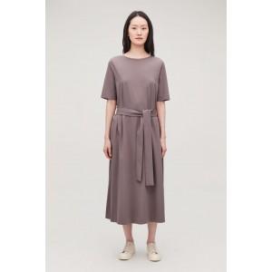 LONG A-LINE JERSEY DRESS