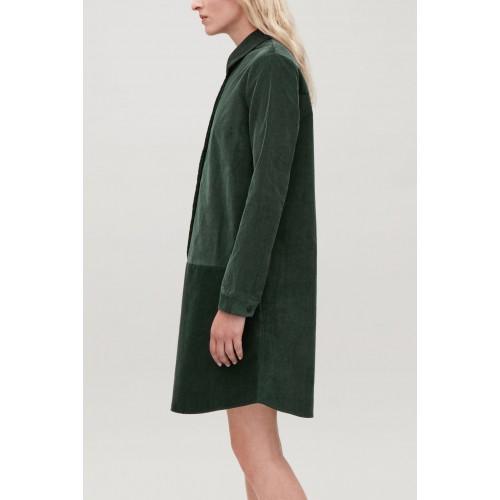 코스 A-LINE CORDUROY SHIRT DRESS
