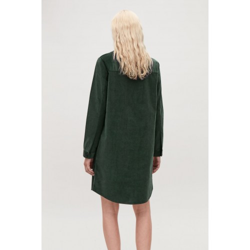 A-LINE CORDUROY SHIRT DRESS