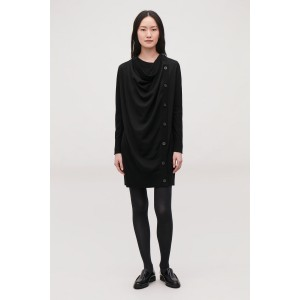 DRAPED MERINO WOOL DRESS