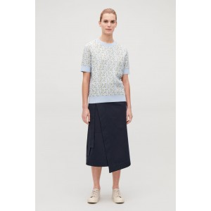 SPECIAL-STITCH COTTON-KNIT TOP