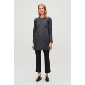SHORT CRUSHED COTTON DRESS