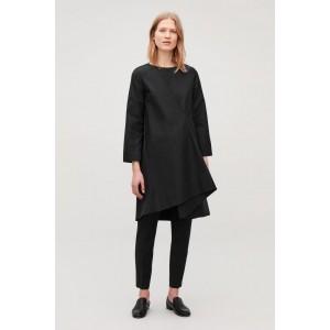 ASYMMETRIC-PLEAT DRESS