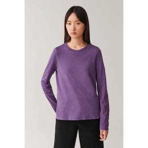 STRAIGHT-HEM LONG-SLEEVED TOP