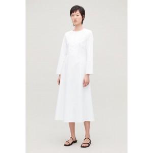 LONG BIB-FRONT DRESS