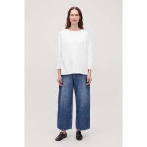 BOXY LONG-SLEEVED COTTON TOP