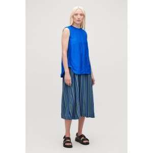 TOPSTITCHED SLEEVELESS TOP
